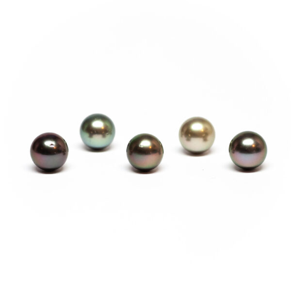 Round Cultured Tahiti pearl, Fancy colour, 9-9,5mm, C/C+ quality